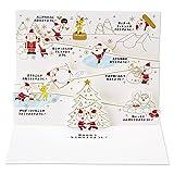 サンリオ クリスマスカード 洋風 ポップアップ 金線描き豆サンタスキー場で乾杯  S6148