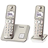 PANASONIC KX-TGE212CXN Digital Cordless Phone, Champagne Gold