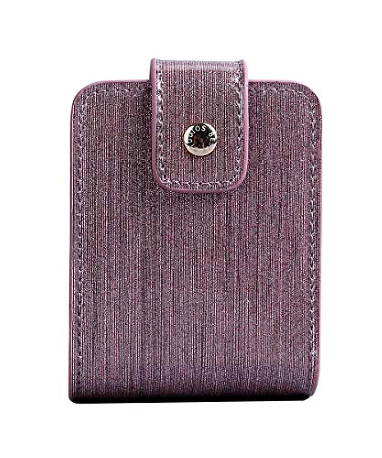 解説採用するグラスBESLY 女性用リップ化粧ポーチリップを収納するミニサイズ携帯しやすい人工製薄い藤PU革