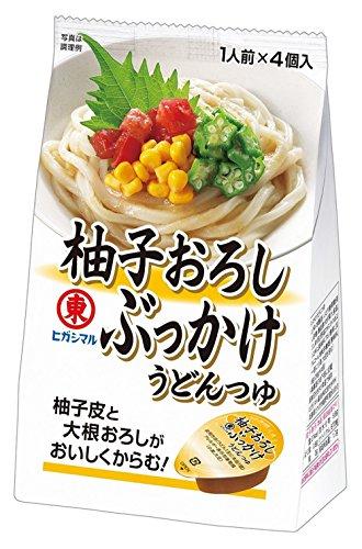 ヒガシマル醤油 柚子おろし ぶっかけうどんつゆ 116g×4袋