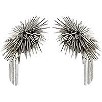 Dovewill 合金 ショルダーボードバッジ メンズ エポレット 多機能性 クール 魅力 全2色 - 銀