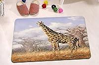 """FidgetGear Giraffe Shower Curtain Bathroom Mat Rug Set Waterproof Polyester Fabric 72X72"""" 8 Mat"""