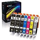 Arthur Imaging 互換 インクカートリッジ 6色セット 大容量 BCI-371XL (BK/C/M/Y/GY)+ BCI-370XL (BK) x 2パック 計7本 851815006806