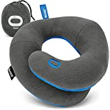 BCOZZY Chin Supporting Travel Pillow- Unique Patented Design Offers 3 Ergonomic Ways to Support The Head, Neck, and Chin When