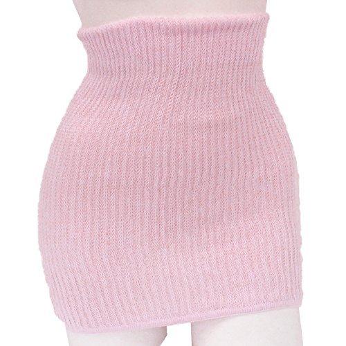 絹(シルク)&綿  腹巻き レディース 肌に柔らかくフィットする 冷え取り 日本製 (ピンク)