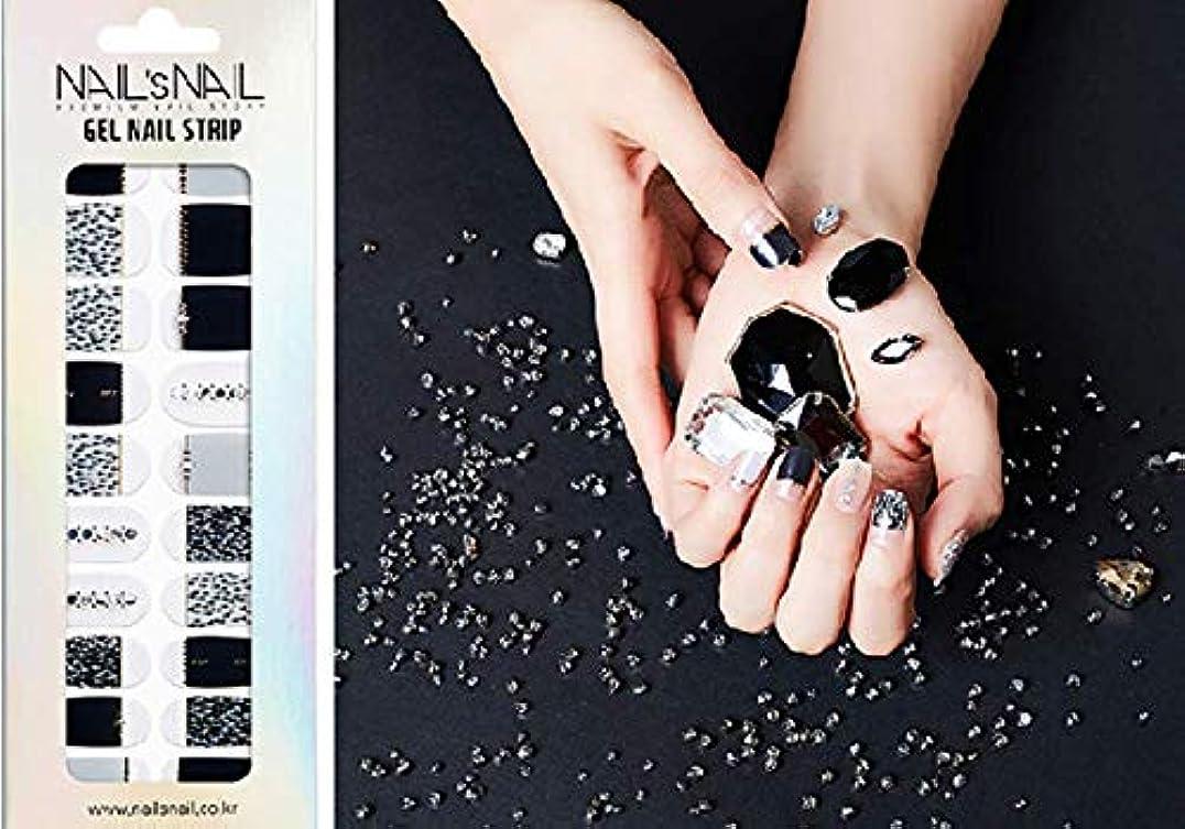 超えて混乱させる曲げる\貼るジェルネイル/Nail's Nail(ネイルスネイル) ジェルネイルストリップ 107