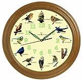 【大きいΦ40cm】 野鳥の電波時計 (12種類の野鳥の声 電波掛け時計)