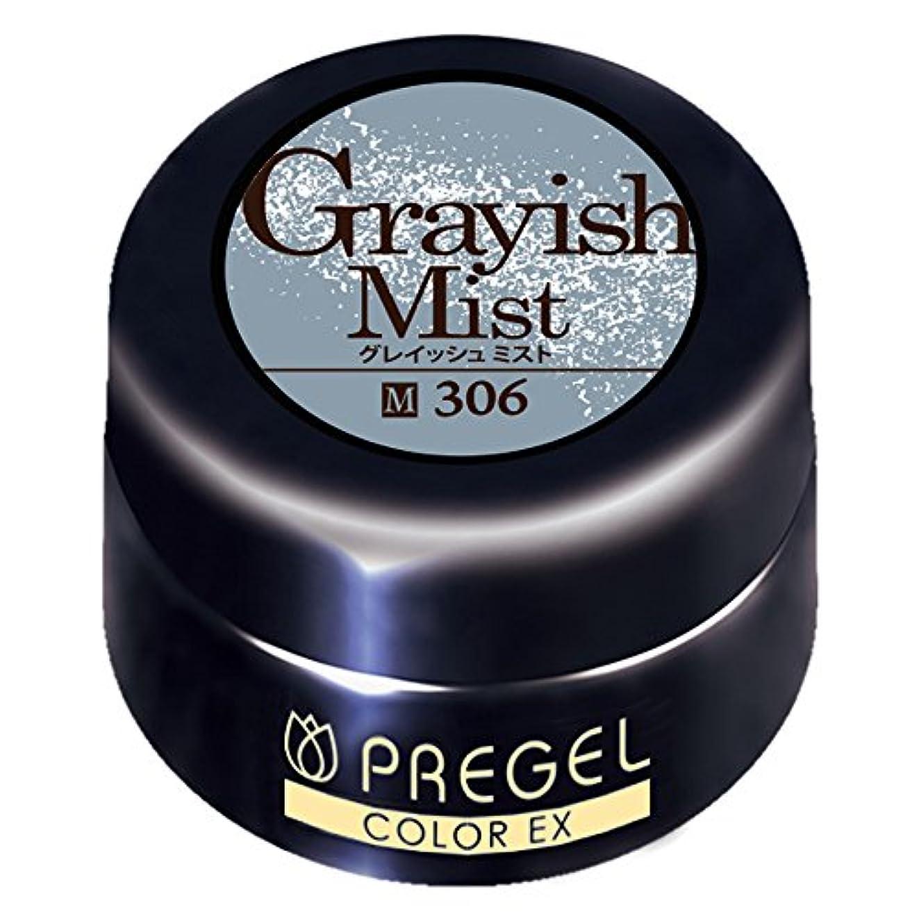 非効率的な長々と喜んでプリジェル ジェルネイル カラーEX グレイッシュミスト 4g PG-CE306