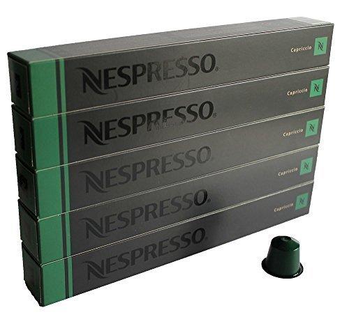 NESPRESSO ネスプレッソ カプセル コーヒー カプリチオ 1本10カプセル×5本セット [並行輸入品]