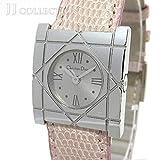 【中古】 クリスチャン ディオール レディース腕時計 クオーツ 文字盤シルバー レザーベルト D82-100 [hs]