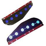 適合多数 マツダ MAZDA 汎用 雨除け ミラー バイザー サイドミラー カバー雨よけ+青 高輝度 反射テープ 車 普通車 カー用品 2枚 DK系 CX-3 KE系 CX-5 GG/GH/GJ アテンザ DE/DJ デミオ 等