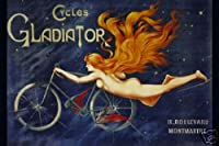 Hot Stuff Enterprise 3645-12x18-VA Cycles Gladiator Poster, 12 x 18 in.