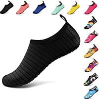 VIFUUR Water Sports Shoes Barefoot Quick-Dry Aqua Yoga Socks Slip-on Men Women Kids
