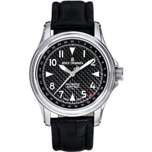 [レヴュートーメン]REVUE THOMMEN 腕時計 AIRSPEED CARBON POINTER DATE 16040.2537 メンズ 【正規輸入品】