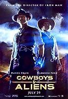 Cowboys and Aliensオリジナル27x 40D / Sポスターwith Sig」で( 007)「ダニエル・クレイグジェームズボンドRare