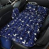 車のインフレータブルベッド折り畳み式大人の屋外旅行エアベッド車ユニバーサル耐衝撃性ベッド子供のs落下防止インフレータブルベッド空気bedcarインフレータブル旅行ベッド車のエアベッドinfl(色:青)