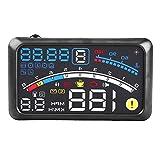 HUDヘッドアップディスプレイ GPS OBD2/EU OBD 車載スピードメーター 3つモード切り替え 燃料消費速度警告綜合システム 過速度警告搭載 反射フィルム付き 読み取りやすい 自動電源オンオフ (5.5インチ)