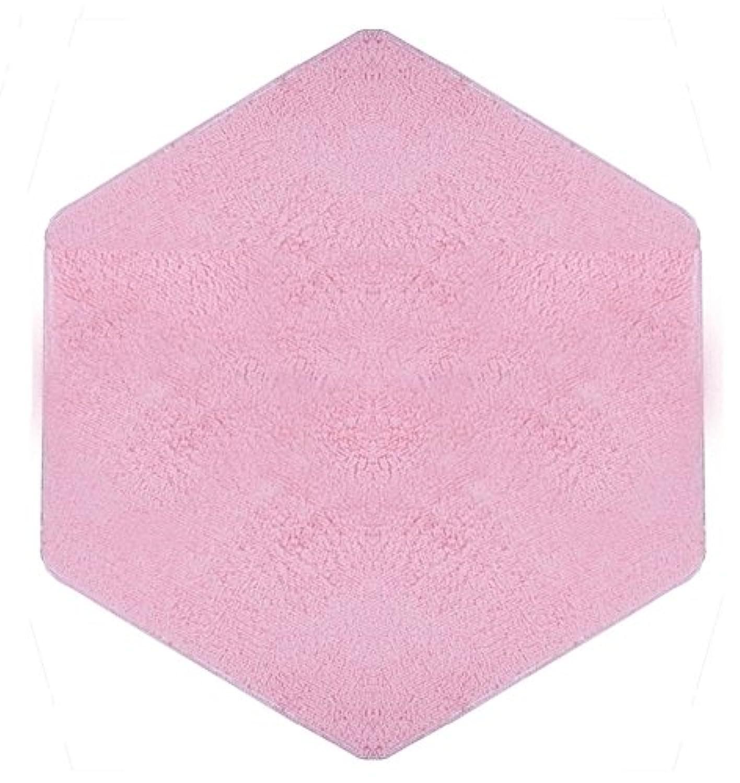 Yihiro キッズテントマット 六角形マット 柔らかい 滑り止め付き 折り畳み 絨毯 プレイマット 下敷き/遊び用/家庭用 140*120cm(ピンク)