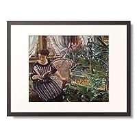 ロヴィス・コリント Lovis Corinth 「Lady at the Goldfish Basin. 1911」 額装アート作品