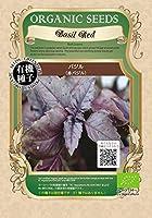 有機種子 バジル(赤バジル) S 種蒔時期 4~6月、8~9月 【 ネコポス可 】