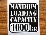 Amazon.co.jp【w-018-1000】【1】【黒】【10cm x 10cm】最大積載量1000kg 英語表記ステンシルカッティングステッカー