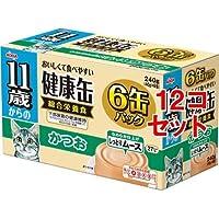 11歳からの健康缶 6P しっとりムース かつお(1セット*12コセット) ペット用品 猫用食品(フード・おやつ) キャットフード(猫缶・パウチ・一般食) [簡易パッケージ品] k1-13372-ak