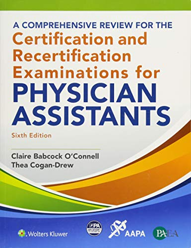 Download A Comprehensive Review for the Certification and Recertification Examinations for Physician Assistants 1496368789
