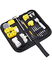 TZYD 腕時計 工具セット 88点セット 時計修理ツール 電池交換 ベルト調整 精密ドライバー メンテナンス バネ棒付き 収納ケース付き