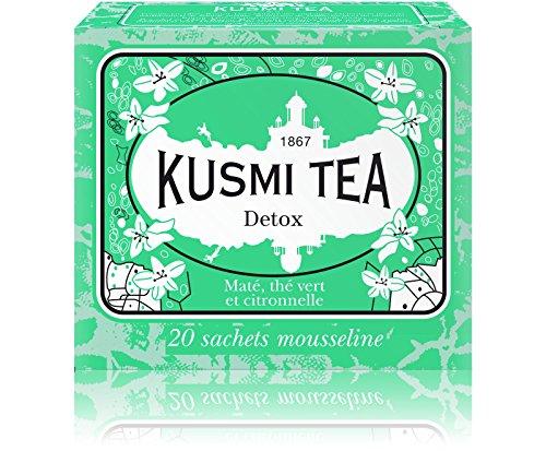 (KUSMI TEA) クスミティー デトックス モスリン ティーバッグ 2.2g×20袋入り [正規輸入品]