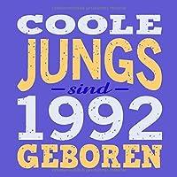 Coole Jungs sind 1992 geboren: Cooles Geschenk zum 27. Geburtstag Geburtstagsparty Gaestebuch Eintragen von Wuenschen und Spruechen lustig / Design: Spruch lustig Vintage Retro