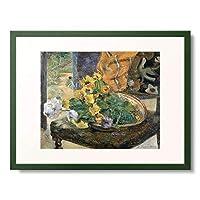 ポール・ゴーギャン Eugène Henri Paul Gauguin 「Cut Flowers for a Bouquet. 1890」 額装アート作品