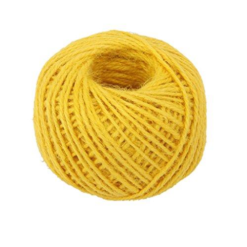 [해외]Homyl 수제 용 대마 로프 리본 끈 밧줄 코드 장식 50M 옐로우/Homyl Handmade hemp rope ribbon cord rope cord decoration 50M yellow