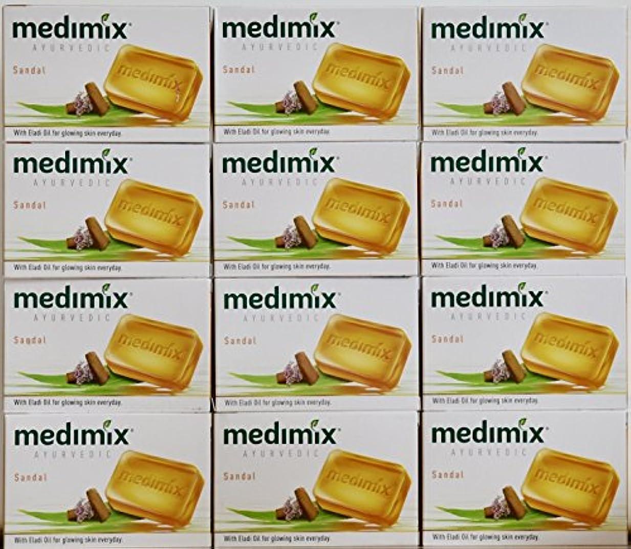 不透明な相対サイズスクワイアmedimix メディミックス アーユルヴェディックサンダル 石鹸(旧商品名クラシックオレンジ))125g 12個入り