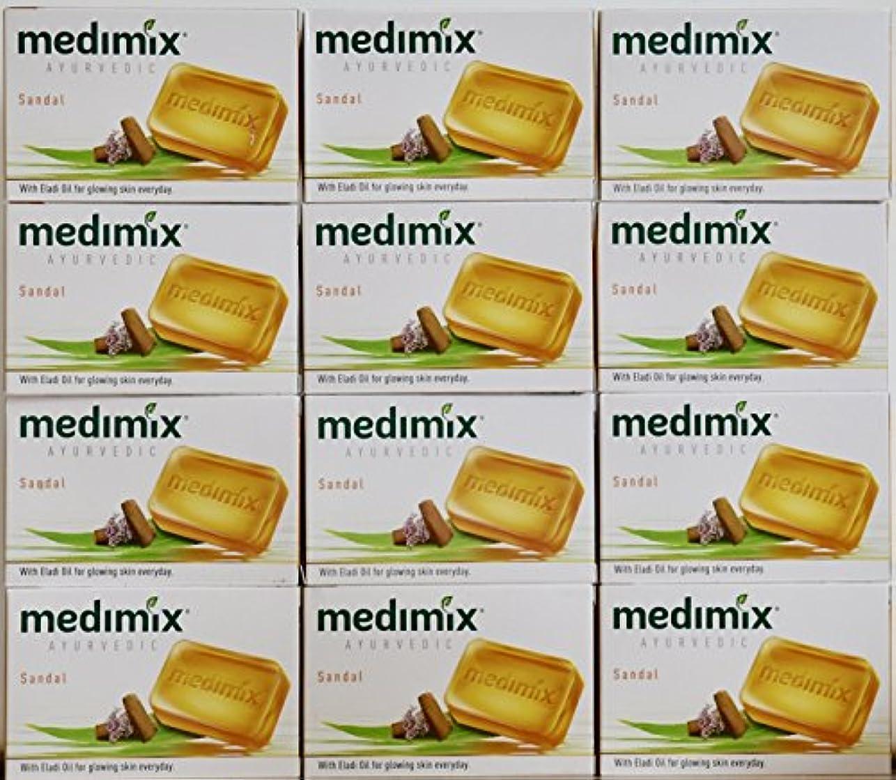 太鼓腹ビジター謝罪するmedimix メディミックス アーユルヴェディックサンダル 石鹸(旧商品名クラシックオレンジ))125g 12個入り