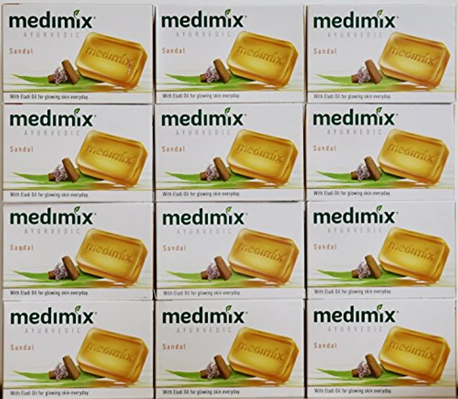 輸送兄弟愛醸造所medimix メディミックス アーユルヴェディックサンダル 石鹸(旧商品名クラシックオレンジ))125g 12個入り