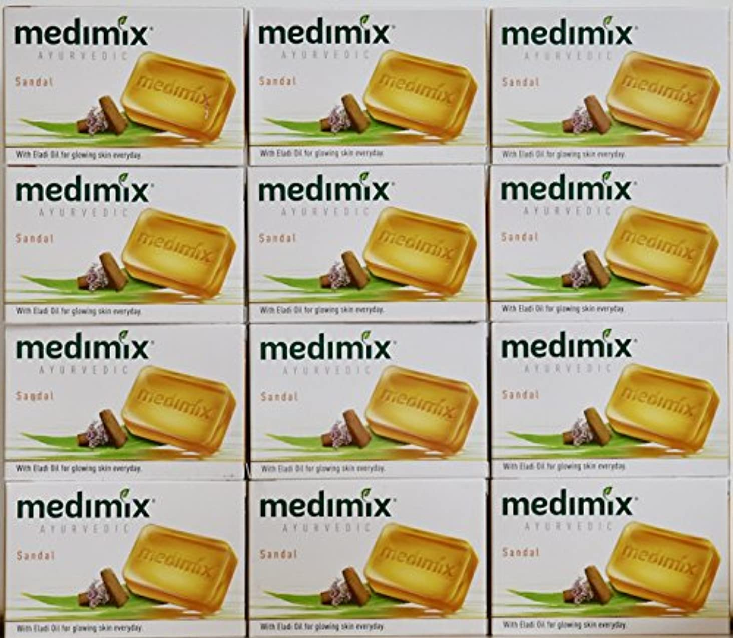 無力インストール倒産medimix メディミックス アーユルヴェディックサンダル 石鹸(旧商品名クラシックオレンジ))125g 12個入り