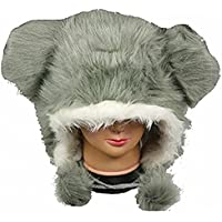 [バックルタウン]Buckletown Gray Furry Plush Hat Fits Kids and Adults With Long Plush Pom Pom Ties 4540963 [並行輸入品]