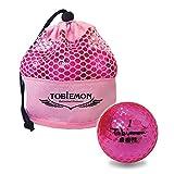 TOBIEMON(トビエモン) ゴルフボール 公認球 2ピース 1ダース(12個入り) ピーチメタル メッシュバック入り T-MMP