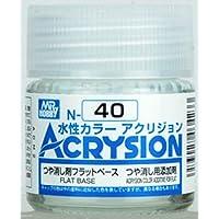 【水性アクリル樹脂塗料】新水性カラー アクリジョン つや消し剤 フラットベース N40