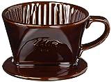 カリタ コーヒードリッパー 陶器製 1~2人用 ブラウン 101-ロト #01003
