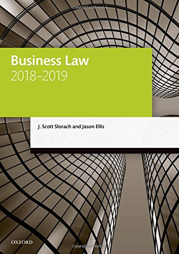Download Business Law, 2018-2019 (Legal Practice Course Manuals) 0198823231