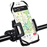 VicTsing Bike Phone Mount, Cell Phone Holder for Bicycle Motorcycle Universal Silicone Bike Handlebar Mount for iPhone X/8 Plus/8/7 Plus/7, Samsung Galaxy S8 S7 S6, Nexus, HTC, LG, Huawei and GPS Devices