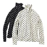 [ビューティフルピープル]beautiful people 16-17A/W dot jacquard high neck pullover navy/ecru 36