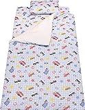 イマージ お昼寝布団 7点セット 【働く車】 ブルー 洗えるお布団 中綿 ボリュームたっぷり 園児用 便利なヒモタイプ