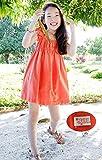 (ジョリーイグレック) JOLIE.y 【 フリル ワンピース 子供 】 キッズ レース 華やか お出かけ お呼ばれ オレンジ ドレッシー 旅行 遊び着 発表会 パーティー 衣装 ガール 女の子 女児 衣装 二次会 A22 100cm