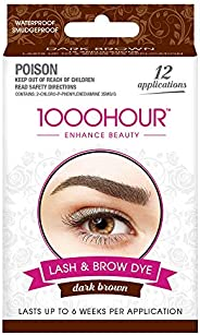 1000 HOUR Eyelash & Brow Dye Kit, Dark Brown,