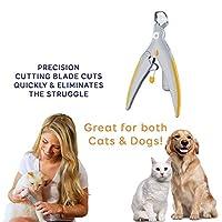 FidgetGear ペット用品 犬のためのLEDライト及び5X拡大鏡が付いている専門のペット釘付け具