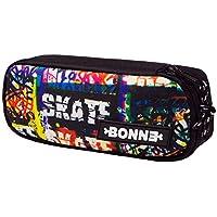 "BONNE ('Bone') Graphic Design""SK8Tag""/""Skate"" Carry Case, School Kids Pencil Case, Stationery Case, Toiletry Bag"