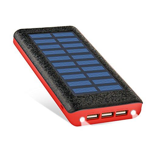 RuiPu ソーラーチャージャー モバイルバッテリー 24000mah大容量...