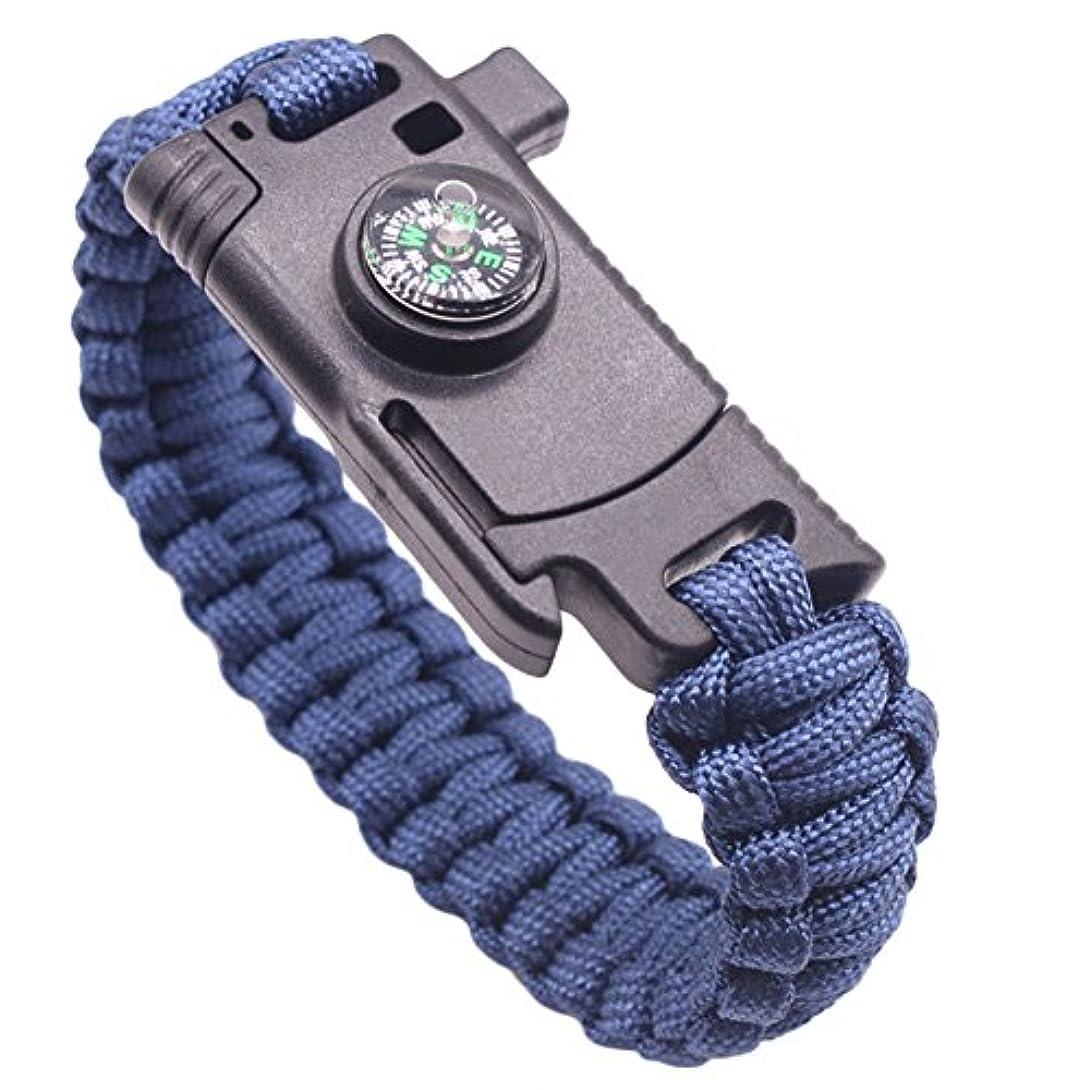 スリル化学薬品今B-PING 多機能ブレスレット ファイヤースターター 火打石 安全対策 登山 旅行 防災 救命縄 バックル キャンプ用品 野外生存 ロープ 編込み 方位磁石 ナイフ付き